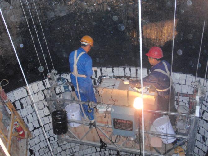烟囱泡沫玻璃砖防腐