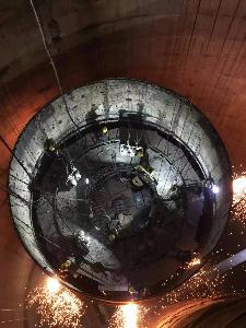 江苏常熟发电有限公司#1.2烟囱防腐改造工程施工