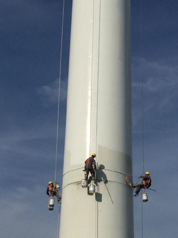 风电塔筒清洗刷新