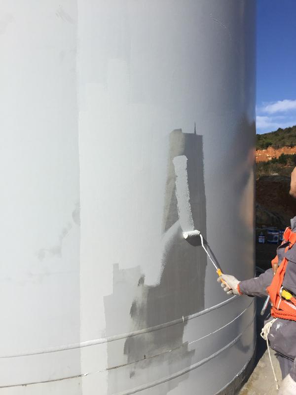 风电塔筒除锈刷漆