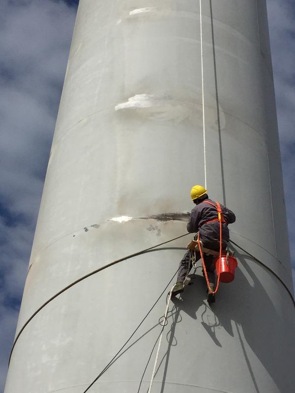 风机塔筒除锈防腐